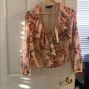 Sanctuary blouse light peach